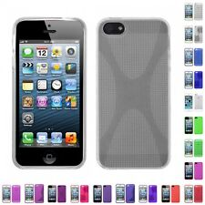 For Apple iPhone 5/5S/SE TPU Rubber Skin Flexible Case Phone Cover