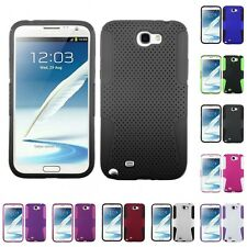 For Samsung Galaxy Note 2 N7100 Hybrid Rugged Impact Hard Soft Case Phone Cover