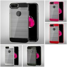 For Apple iPhone 7 Plus [5.5] Brushed Icebox 2-Piece Hybrid IMPACT Case Cover