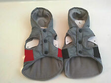 Winter Pet Jacket Pet Central Dog Coat W/ Hood XS S M Gray/Black Gray/Red NWT