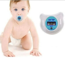 Safety Nipple Mouth Temperature Baby Infant LCD Digital Pacifier Thermometer New