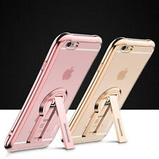For Apple iPhone 7 Plus Soft TPU Rubber Gel Silicone Kickstand Phone Case Cover
