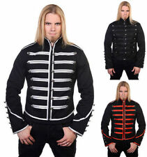 Men Black Parade Military Marching Banned Drummer Jacket Goth Punk Emo