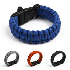 Bracelet with Whistle Reflective Rope Outdoor Rope Paracord Survival Gear Kits