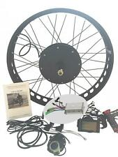 1500W Fat Bike Fat Wheel Electric Bicycle E Bike Hub Motor Conversion Kit + LCD