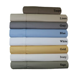 King/Cal-King Size 650TC Solid 100% Combed Cotton Unattached Waterbed Sheet Set