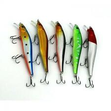 Minnow Floating Treble Hooks Lures Bait Fishing Bass CrankBait
