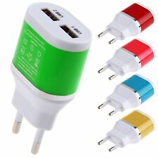 EU Plug Dual USB 5V/2A Power Adapter Wall Charger for Samsung HTC Cellphones