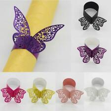 50pcs Butterfly Napkin Ring Serviette Holder Wedding Banquet Party Tableware