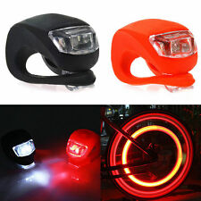 Silicone Bike Bicycle Cycling Front Rear Wheel LED Flash Light Warning Lamp COOL