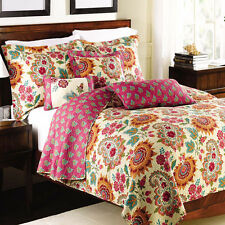 Full/Queen Tamiya Oversized Reversible Print Wrinkle Free Microfiber Coverlet