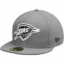 New Era Oklahoma City Thunder Gray/Black 59FIFTY Fitted Hat
