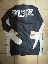 "VICTORIAS SECRET PINK ANORAK UNLINED FULL ZIP ""PINK"" WINDBREAKER HOODIE NWT"