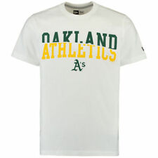 New Era Oakland Athletics White Split Graphic T-Shirt - MLB