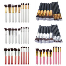 10Pcs Pro Make up Blush Blending Set Eyeshadow Concealer Cosmetic Lip Brush Tool