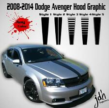 2008-2014 Dodge Avenger Hood Racing Stripe Vinyl Decal  Graphics Car Kit Sticker