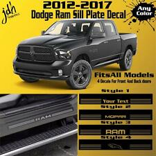 2012-2017 Dodge Ram Sill Plate Protector Vinyl Decal Sticker 2500 Big Horn SLT