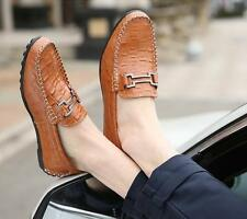 Fashion Mens Genuine Leather Moccasin Loafers Casual Soft Slip On Driving Shoes