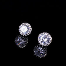 Ear Stud Princes 18K White Gold Plated Earring Crown Crystal