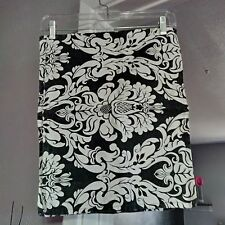 Lot of 2 Waverly Home Black & White Damask Printed Placemats; EUC!