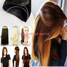 Soft One Piece Wire No Clips Headband Hair Extension Straight Curly Thick Hair Y