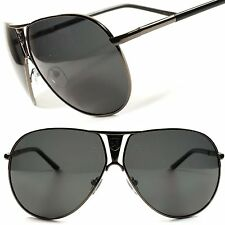 High-End Black Womens Mens Oversized Air Force Style Polarized Sunglasses C61