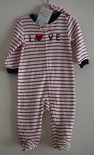 Just One You by Carters Sleep & Play Striped Cupid 'Love' & Beanie Hat Valentine