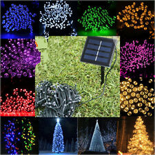100/200/500 LED Solar Powered Fairy Lights String Outdoor Party Christmas Garden