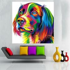 20-60cm Unframed Canvas Print Wall Hanging Painting Picture Decor Colorful Dog