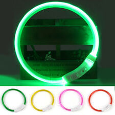 Band Safety Pet Dog Collar Waterproof LED Flashing Light New Rechargeable USB