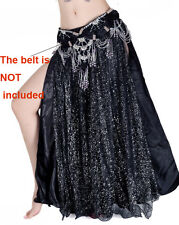 Cheap Sale Clearance Shinning Belly Dance Costumes Skirt Side Slit  Satiin