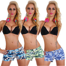 Womens Hot Pants New Camouflage Sexy Mini Shorts Low Rise Size 6 8 10 12 14