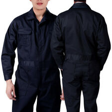 Black BOILER SUIT OVERALL COVERALL Mechanic college work MENS New Sale UK HT