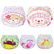 Cute Baby Training Pants Reusable Cloth Washable Infant Nappies Diaper Exquisite