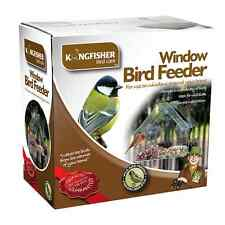 CLEAR GLASS WINDOW BIRD FEEDER HOTEL TABLE SEED PEANUT HANGING SUCTION UK