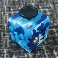 Big Sale ! Magic Fidget Cube Anxiety Stress Relief Focus Toy Gift Camo Blue  A+