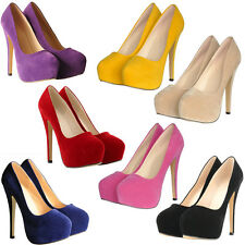 WOMENS LADIES STILETTO HIGH HEEL COURT SHOES SIZE 4 5 6 7 Free Delivery  HT