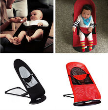 Cotton/Mesh Baby Bouncer Balance Soft Infant Rocker Chair Black/Red Balance NW