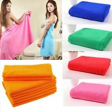 1x MICROFIBER PLAIN TOWEL BATH BEACH GYM SPORT TRAVEL SWIMMING DRYING WASHCLOTHS