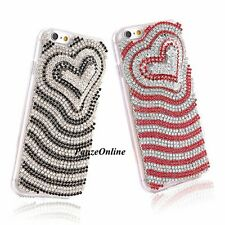 Bling Crystal Glitter Rhinestones 3D Love Diamond TPU Case For iPhone 6/6S Plus