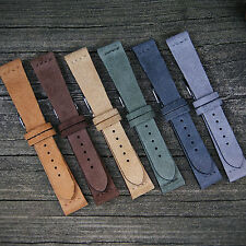 B & R Bands Italian Vintage Suede Watch Band Strap Many Colors 18mm 20mm 22mm
