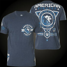 American Fighter by Affliction T-Shirt Massachusetts Blue