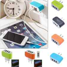 3-Port USB Wall Home Travel AC LED Power Charger Adapter For iPhone 7 6s Plus 5s