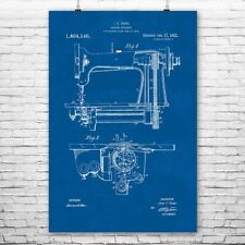Sewing Machine Poster Patent Art Print Gift Stitching Quilting Embroidery Wall