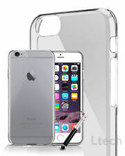 Ultra Thin Clear Gel TPU Skin Case Cover & Retractable Pen for Various Phones
