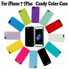 Soft Slim Silicone Candy Color Case TPU Rubber Cover Gift For iPhone 7 7 Plus