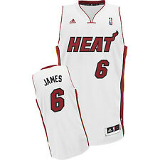 Adidas Lebron James Miami Heat White Swingman Jersey
