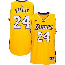Adidas Kobe Bryant Los Angeles Lakers Yellow Swingman Jersey