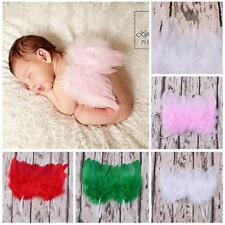 Newborn Infant Baby Costume Photo Props Lace Feather Angel Wings