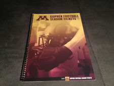 2016 MINNESOTA GOLDEN GOPHERS FOOTBALL SEASON TICKET BOOK COMPLETE